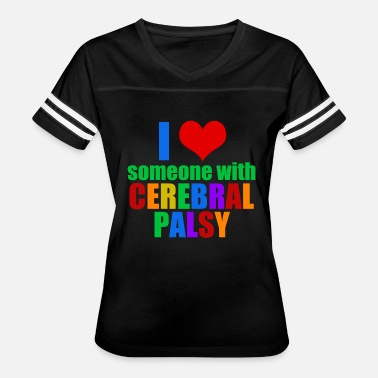 Cerebral Palsy I Love Someone With Cerebral Palsy - Women's Vintage Sport T-Shirt