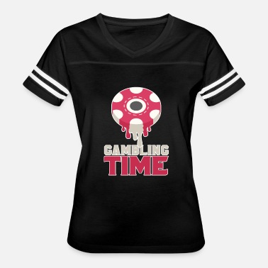 Casino Chips Casino Gambling Time Chips - Women's Vintage Sport T-Shirt