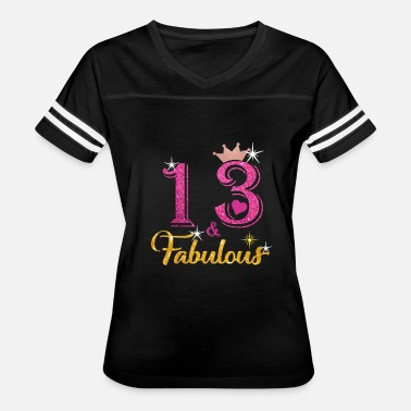 13th Birthday Girl 13 Fabulous Queen Shirt 13th Birthday Gifts - Women's Vintage Sport T-Shirt