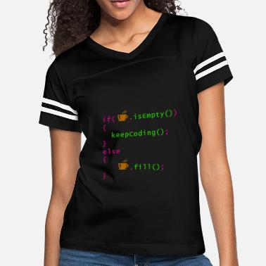 Computer Science Coffee - coding syntax - Women's Vintage Sport T-Shirt
