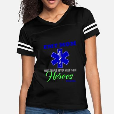 Proud Emt Mom EMT Mom Gift Hero Firefighter EMT EMS Wing - Women's Vintage Sport T-Shirt