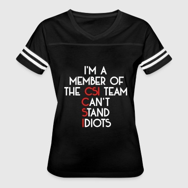 Csi Funny Team CSI - Women's Vintage Sport T-Shirt