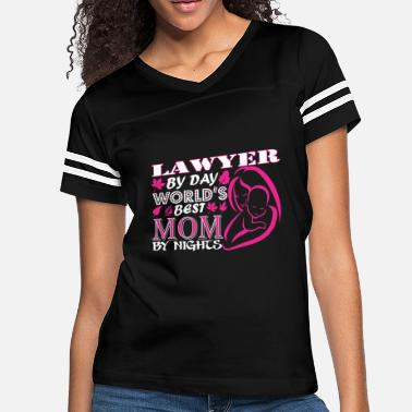 Mom Is A Lawyer Lawyer By Day Worlds Best Mom By Night - Women's Vintage Sport T-Shirt