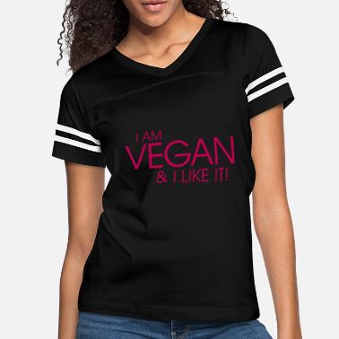I am vegan and I like it - Women's Vintage Sport T-Shirt