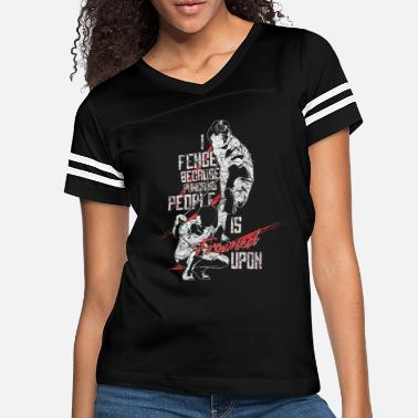 Sword Fencing Saying - Women's Vintage Sport T-Shirt