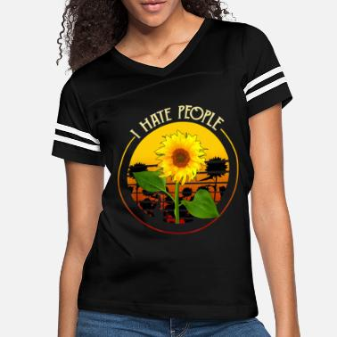 People I hate people Sunflower Vintage Lover Funny Hippie - Women's Vintage Sport T-Shirt