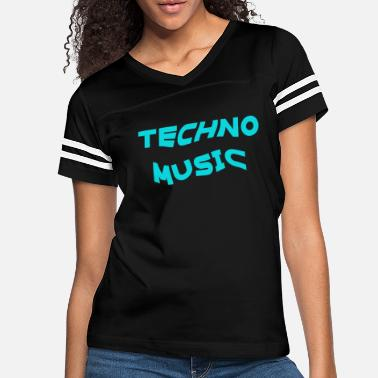 Trance Techno Music Rave Music Electronic Dance heartbeat - Women's Vintage Sport T-Shirt