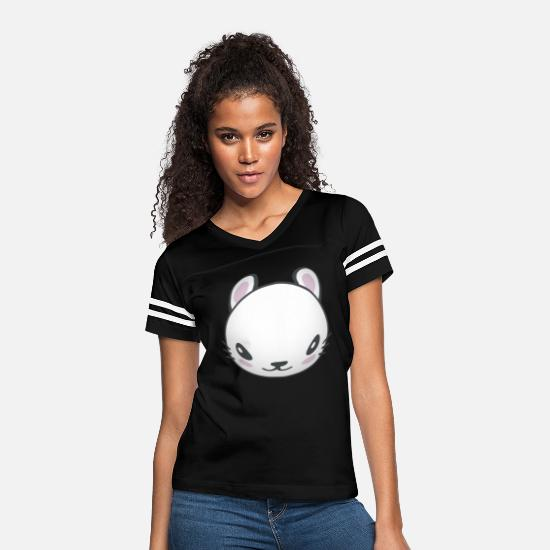 Gift Idea T-Shirts - Beautiful bunny easter bunny for child kids egg - Women's Vintage Sport T-Shirt black/white