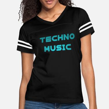 Dj Techno Music Rave Music Electronic Dance loved - Women's Vintage Sport T-Shirt