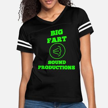 Irony BIG FART SOUND PRODUCTIONS Funny Fart - Women's Vintage Sport T-Shirt