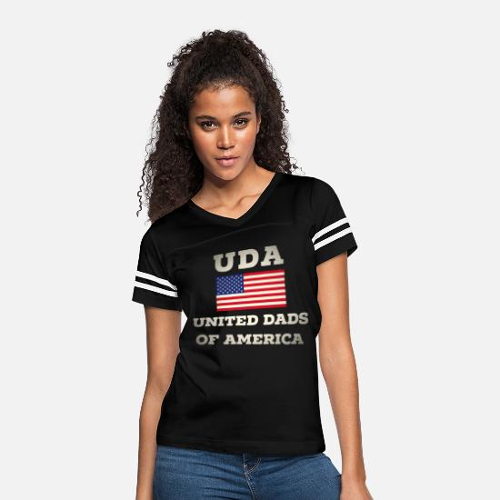 Patriot T-Shirts - United Dads Of America Stern 4th July 4. gift - Women's Vintage Sport T-Shirt black/white