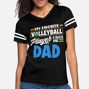 Beach Volleyball Volleyball Dad Favorite Volleyball Player - Women's Vintage Sport T-Shirt