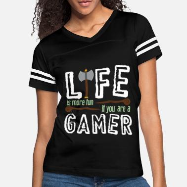 Game Over Life more Fun as a Gamer Shirt - Women's Vintage Sport T-Shirt
