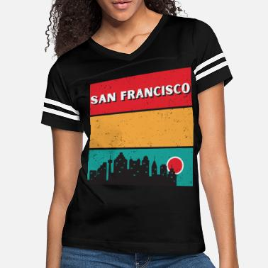 Gate Vintage 70s San Francisco California State Skyline - Women's Vintage Sport T-Shirt