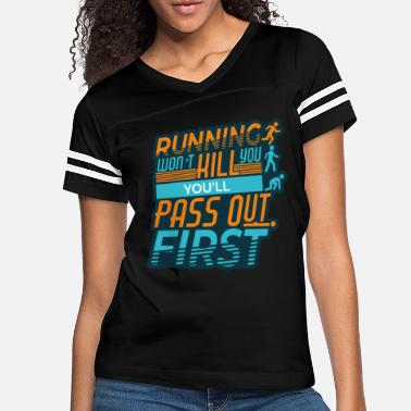 Funny Gym Funny Running Fitness For Gym Workouts - Women's Vintage Sport T-Shirt