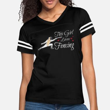 Fencing This Girl Loves Fencing Sport Fencer Gift Epee - Women's Vintage Sport T-Shirt