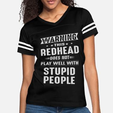 Warning Warning this redhead does not play - Women's Vintage Sport T-Shirt
