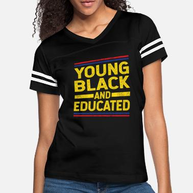 Young Young Black and Educated - Women's Vintage Sport T-Shirt
