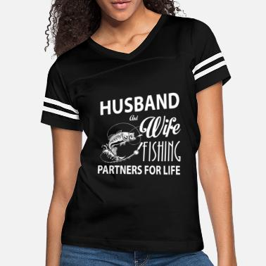 Couple Husband And Wife Fishing Partners For Life T Shirt - Women's Vintage Sport T-Shirt