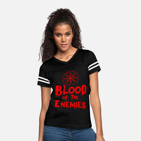 The Doctor T-Shirts - Blood of the Enemies - Women's Vintage Sport T-Shirt black/white