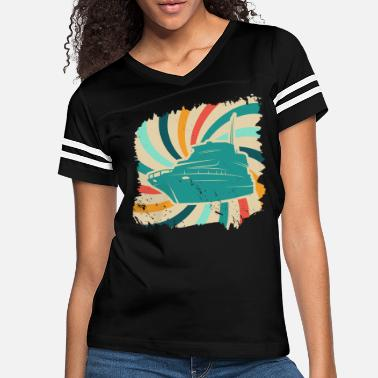 Captain Sailing boat sailboat captain sea yacht retro sail - Women's Vintage Sport T-Shirt