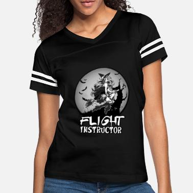 Flight Sexy Witch Flight Instructor School Halloween Gift - Women's Vintage Sport T-Shirt