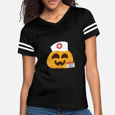 Halloween Pumpkin Nurse Halloween - Women's Vintage Sport T-Shirt
