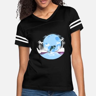 Grandma Galaxy Moon T shirt whale Gifts whale And Moon Tee - Women's Vintage Sport T-Shirt