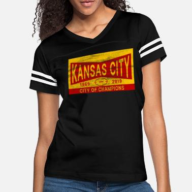 City Of Champions Kansas City Football / City of Champions - Women's Vintage Sport T-Shirt