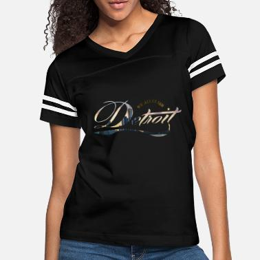 Claim We All Claim Detroit - Women's Vintage Sport T-Shirt
