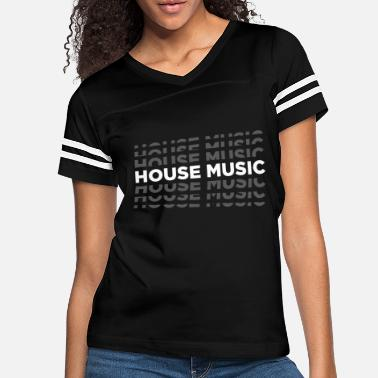 House House Music God Is A Dj Love The Beat - Women's Vintage Sport T-Shirt