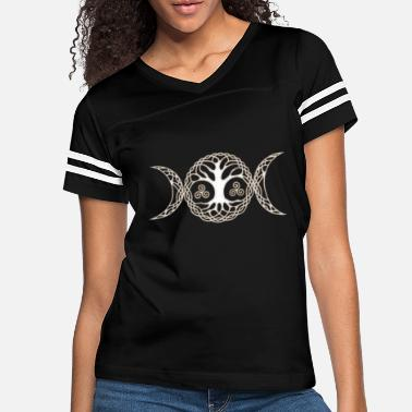 Goddess Triple Moon Goddess with triskele and tree of life - Women's Vintage Sport T-Shirt