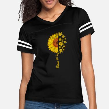 Spelling ASL Sign Language Sunflower Share The Love Vintage - Women's Vintage Sport T-Shirt