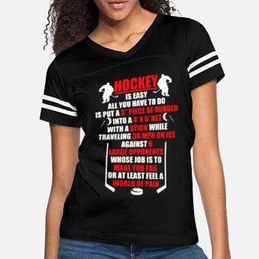 Hockey Is Easy Shirt - Women's Vintage Sport T-Shirt