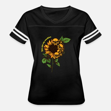 You Are My Sunshine Skull Sunflower TShirt - Cool Women's