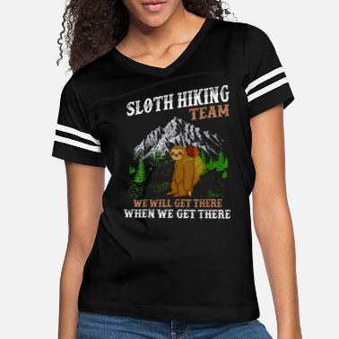 Hiking Sloth Hiking Team We Will Get There When We Get - Women's Vintage Sport T-Shirt