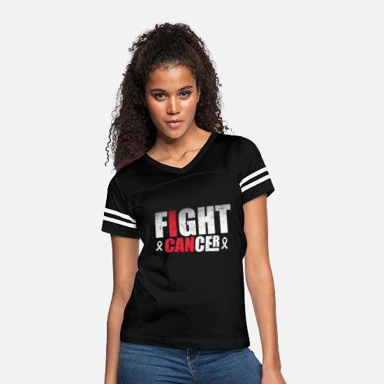 Breast Cancer Month T-Shirts - I Can Fight Breast Cancer - Women's Vintage Sport T-Shirt black/white