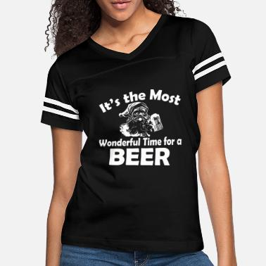 Wonderful Most Wonderful Time For Beer - Women's Vintage Sport T-Shirt
