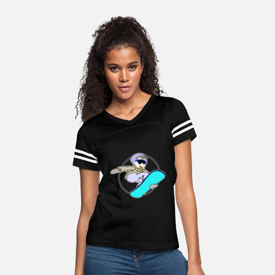Gift Idea T-Shirts - Snowboarder Young - Young Snowboarding - Women's Vintage Sport T-Shirt black/white