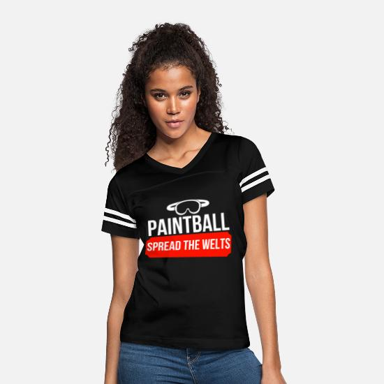 Paintball T-Shirts - Paintball - Women's Vintage Sport T-Shirt black/white