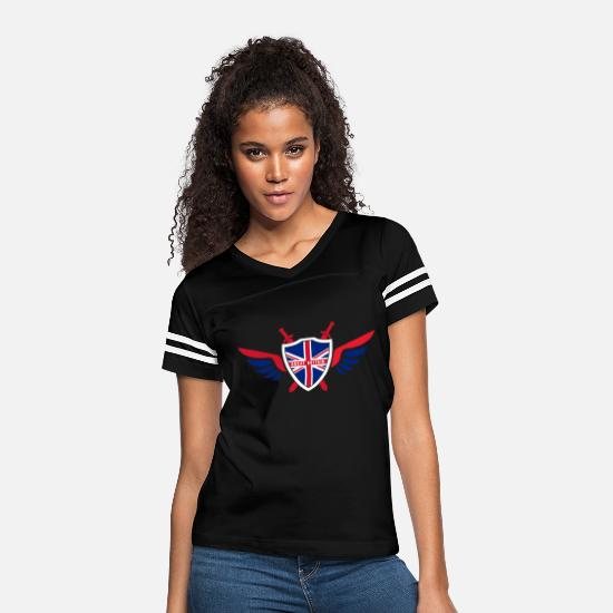 Patriot T-Shirts - Great Britain Flights / Flag Gift London - Women's Vintage Sport T-Shirt black/white