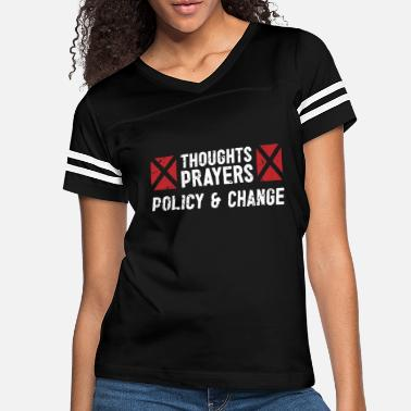 Change Thoughts and prayers policy change gift tee - Women's Vintage Sport T-Shirt