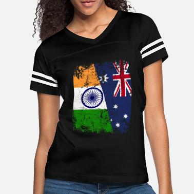 India AUSTRALIA INDIA FLAG - Half Indian - Women's Vintage Sport T-Shirt