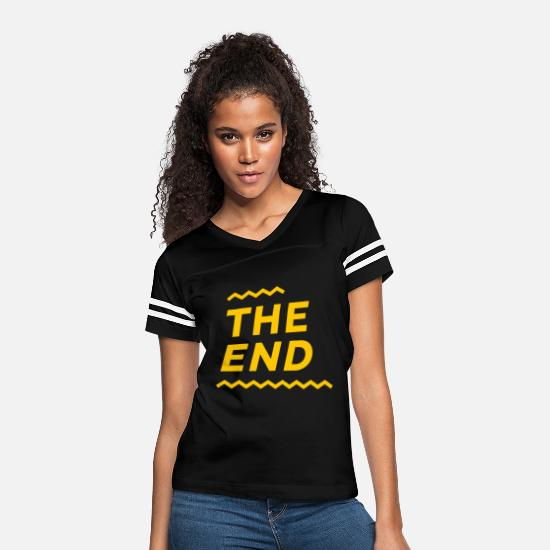 Over T-Shirts - The End - Women's Vintage Sport T-Shirt black/white