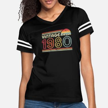 1980 40th Birthday Gift Design. Classic, Vintage 1980 - Women's Vintage Sport T-Shirt