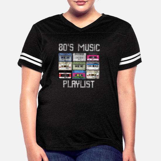 Cassette 80's Music Playlist Grunge Women's Vintage Sport T