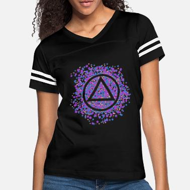 Aa 12-Step Recovery Triangle-circle Color Spatter - Women's Vintage Sport T-Shirt