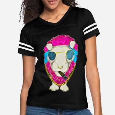 Gold Lion With Sunglasses - Women's Vintage Sport T-Shirt