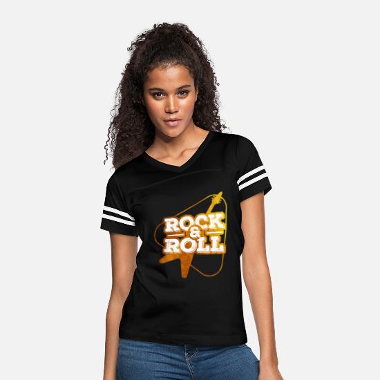 Love T-Shirts - Rock and roll - Women's Vintage Sport T-Shirt black/white