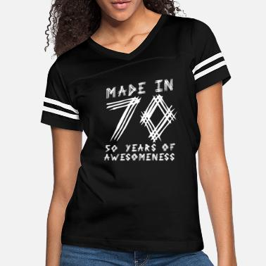 70s Made In 70 50 Years Of Awesomeness - Women's Vintage Sport T-Shirt